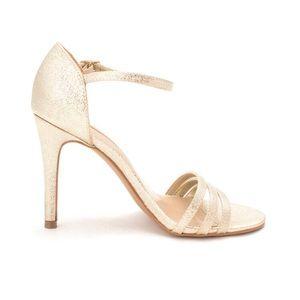 Audrey Brooke Champagne Gold Jeana Heels